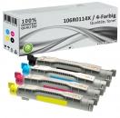 4x Alternativ Xerox Toner 106R0114X Mehrfarbig