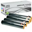 4x Alternativ Xerox Toner 106R0116X Mehrfarbig