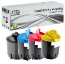 4x Alternativ Xerox Toner 106R0127X Mehrfarbig