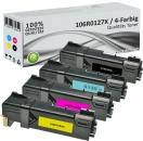4x Alternativ Xerox Toner 106R0128X Mehrfarbig