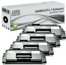 4x Alternativ Xerox Toner 106R01371 Schwarz