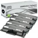 4x Alternativ Xerox Toner 106R01412 Schwarz