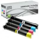 4x Alternativ Xerox Toner 106R0143X Mehrfarbig