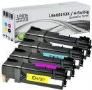 4x Alternativ Xerox Toner 106R0145X Mehrfarbig