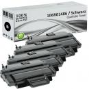 4x Alternativ Xerox Toner 106R01486 Schwarz
