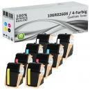 8x Alternativ Xerox Toner 106R0260X Set Mehrfarbig