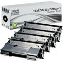 4x Alternativ Xerox Toner 113R00712 Schwarz