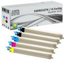5x Alternativ Xerox Toner 106R0107X Mehrfarbig