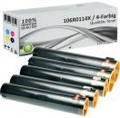 5x Alternativ Xerox Toner 106R0116X Mehrfarbig
