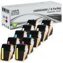10x Alternativ Xerox Toner 106R0260X Set Mehrfarbig